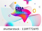 abstract style poster with... | Shutterstock .eps vector #1189772695
