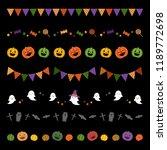 set of halloween borders  ... | Shutterstock .eps vector #1189772698