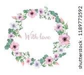 decorative festive floral... | Shutterstock .eps vector #1189773592
