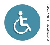 sign of disabled people icon in ...
