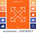 extend  resize  enlarge line... | Shutterstock .eps vector #1189783915