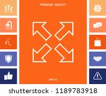extend  resize line icon | Shutterstock .eps vector #1189783918