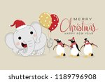 merry christmas and happy new... | Shutterstock .eps vector #1189796908