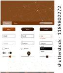 dark brown vector ui kit in...