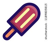 popsicle filled line icon vector | Shutterstock .eps vector #1189805815