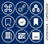set of 9 interface filled icons ...   Shutterstock .eps vector #1189810318