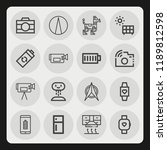 set of 16 technology outline... | Shutterstock .eps vector #1189812598