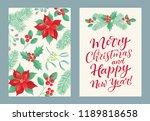 vector set of holidays design.... | Shutterstock .eps vector #1189818658