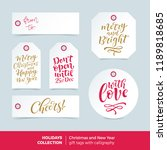 vector set of printable... | Shutterstock .eps vector #1189818685
