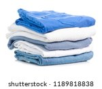 stack of clothing jeans... | Shutterstock . vector #1189818838
