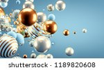beautiful background with balls.... | Shutterstock . vector #1189820608
