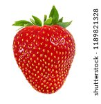 fresh strawberry isolated on... | Shutterstock . vector #1189821328