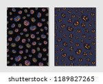halloween pumpkin pattern. dark ... | Shutterstock .eps vector #1189827265