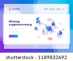 mining cryptocurrency office... | Shutterstock .eps vector #1189832692