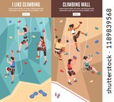 isometric climbing wall banners ... | Shutterstock .eps vector #1189839568