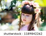 very beautiful elf girl.... | Shutterstock . vector #1189842262