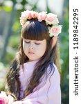 very beautiful elf girl.... | Shutterstock . vector #1189842295