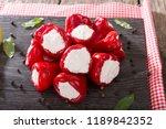 sweet cherry red peppers...   Shutterstock . vector #1189842352
