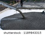 workers pour the foundation for ... | Shutterstock . vector #1189843315