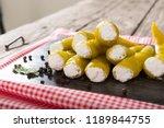 sweet cherry yellow peppers... | Shutterstock . vector #1189844755