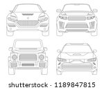 car linear vector illustration  ... | Shutterstock .eps vector #1189847815