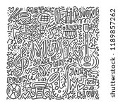 black and white doodle style...   Shutterstock .eps vector #1189857262