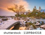 kanazawa  japan winter at... | Shutterstock . vector #1189864318