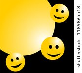 smile face background or... | Shutterstock .eps vector #1189865518