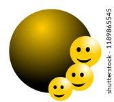 smile face background or... | Shutterstock .eps vector #1189865545