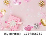 confetti  bows and paper... | Shutterstock . vector #1189866352