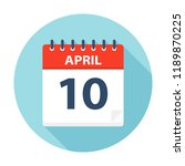 april 10   calendar icon  ... | Shutterstock .eps vector #1189870225