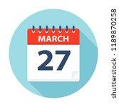 march 27   calendar icon  ... | Shutterstock .eps vector #1189870258