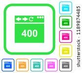 browser 400 bad request vivid... | Shutterstock .eps vector #1189874485