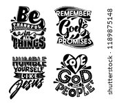 christian typography and... | Shutterstock .eps vector #1189875148