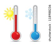 thermometer with scale... | Shutterstock .eps vector #118988236