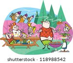 family cookout | Shutterstock .eps vector #118988542