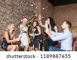 fellow colleagues having fun... | Shutterstock . vector #1189887655