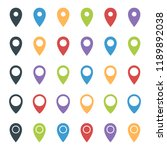 map pointer set  colorful... | Shutterstock .eps vector #1189892038