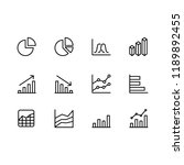 modern business graphic icon set | Shutterstock .eps vector #1189892455