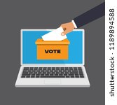 voting online concept in a flat ... | Shutterstock .eps vector #1189894588