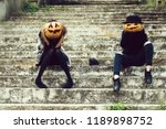 young halloween couple of two... | Shutterstock . vector #1189898752
