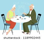 elderly couple on a date having ... | Shutterstock .eps vector #1189902445