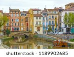 narbonne  france   houses and... | Shutterstock . vector #1189902685