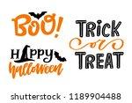 set of three halloween holiday...   Shutterstock .eps vector #1189904488