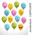 funny cartoon emoji balloons... | Shutterstock .eps vector #1189912855