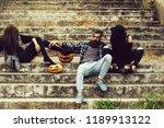 young halloween bearded man... | Shutterstock . vector #1189913122