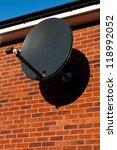 Black Satellite Dish Attached...