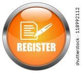 vector button register | Shutterstock .eps vector #118992112