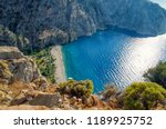 aerial view of butterfly valley ... | Shutterstock . vector #1189925752