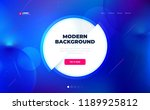 liquid color background design... | Shutterstock .eps vector #1189925812